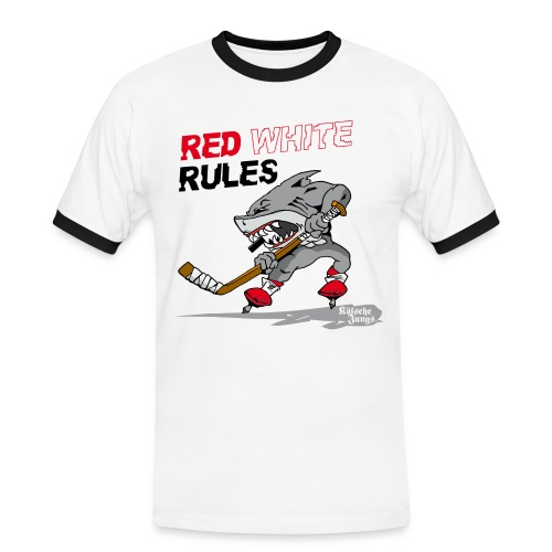 Red White Rules - Männer Kontrast-T-Shirt