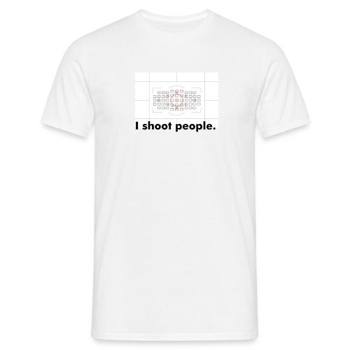 Photographer: I shoot people. - Männer T-Shirt