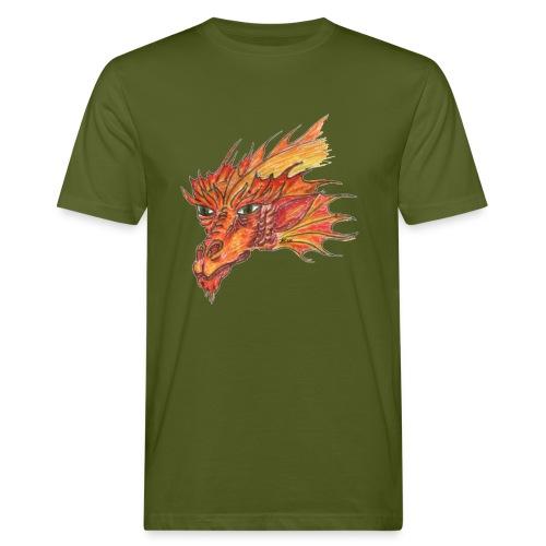 Freuerdrache - Männer Bio-T-Shirt