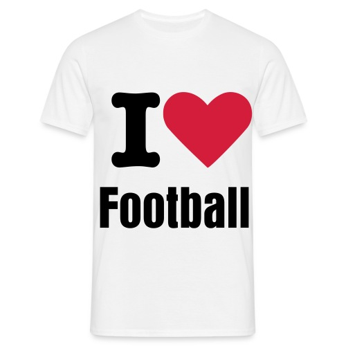 Mens I Love Football T-Shirt - Men's T-Shirt