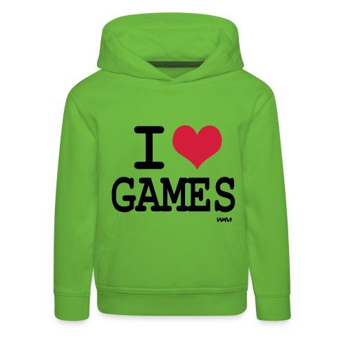 I Love Games kinderen trui met capuchon - Kinderen trui Premium met capuchon