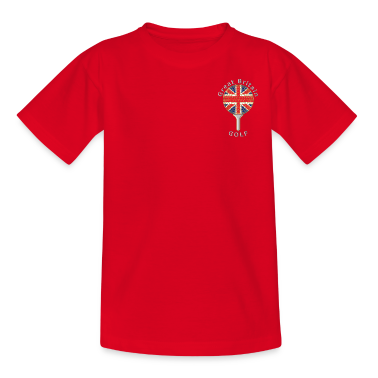 great britain union jack golf logo Kids' Shirts