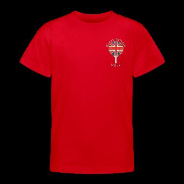 great britain union jack golf logo Kids' Shirts