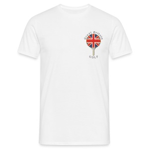 great britain union jack golf logo T-Shirts - Men's T-Shirt