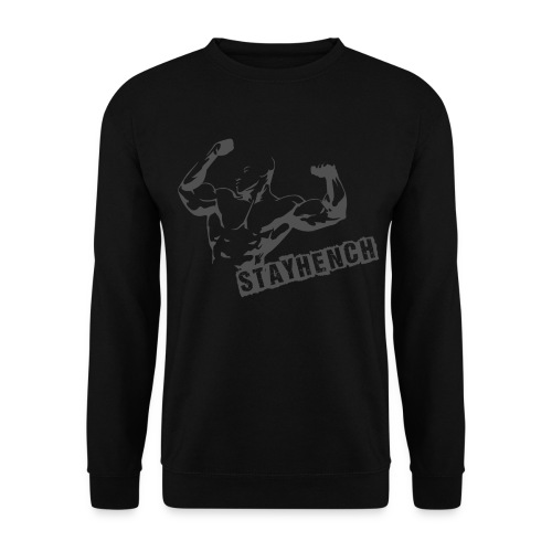 Mens MuslceMan Sweatshirt Black - Men's Sweatshirt