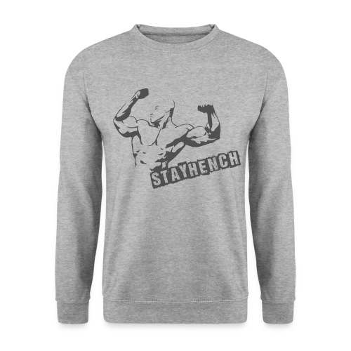 Mens MuslceMan Sweatshirt White/Grey - Men's Sweatshirt