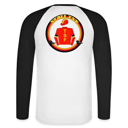 He. Langarmshirt mit TSF-Logo auf dem Rücken - Männer Baseballshirt langarm
