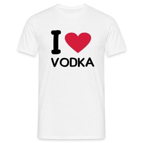 I love vodka (Blanca - Hombre) - Camiseta hombre