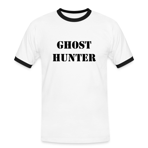 Ghost Hunter - Kontrast-T-skjorte for menn