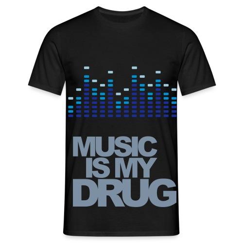 Music is my drug T-shirt - Herre-T-shirt
