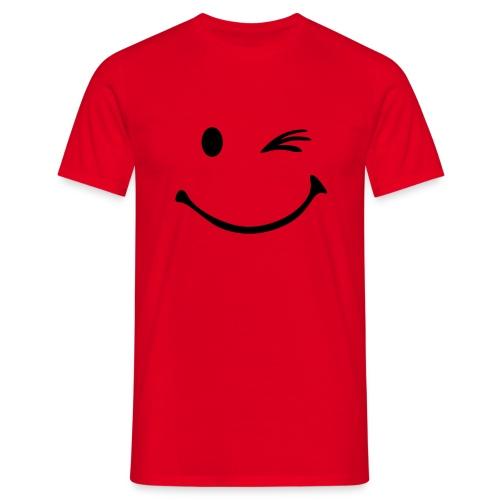 Smiley Guiño - Camiseta hombre