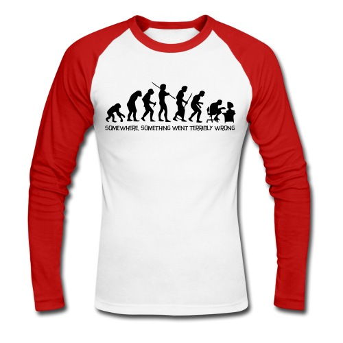 The Evolution of Man - Langermet baseball-skjorte for menn