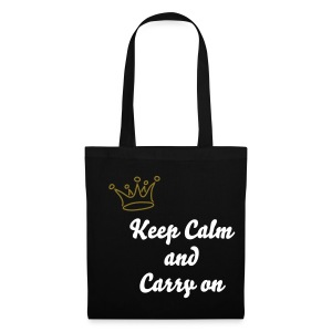Stofftasche - Keep Calm and Carry on - Stoffbeutel