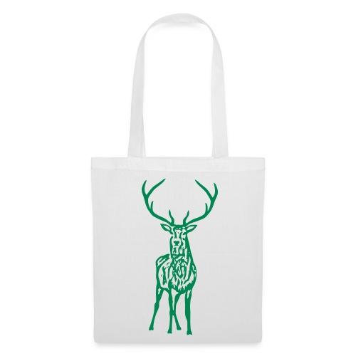 tiershirt t-shirt hirsch röhrender brunft geweih elch stag antler jäger junggesellenabschied förster jagd - Stoffbeutel