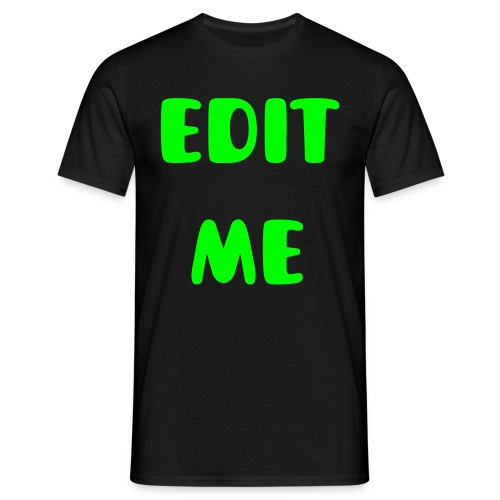 Editable Mens Tee - Men's T-Shirt