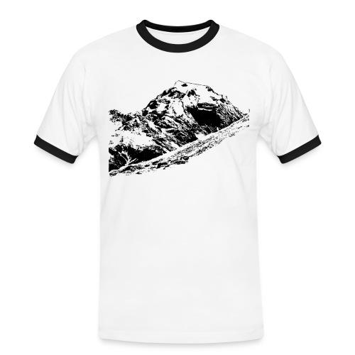 Ortler T-Shirt Herren - Männer Kontrast-T-Shirt