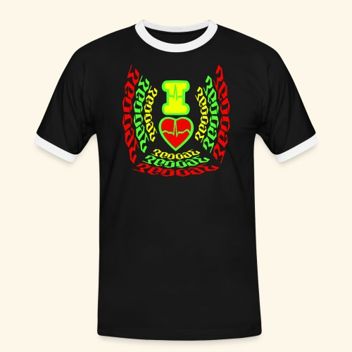 I Love Reggae - T-shirt contrasté Homme