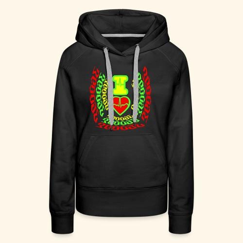 I Love Reggae Vibes - Sweat-shirt à capuche Premium pour femmes