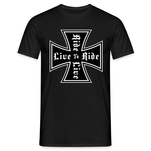 Klassisches Männershirt ( Live to Ride ) - Männer T-Shirt