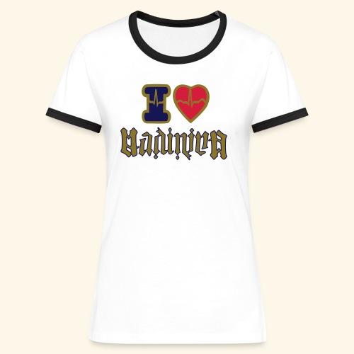 I LOVE MADININA - T-shirt contrasté Femme