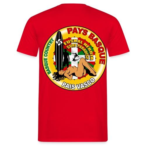 t-shirt basque surfing design - Men's T-Shirt