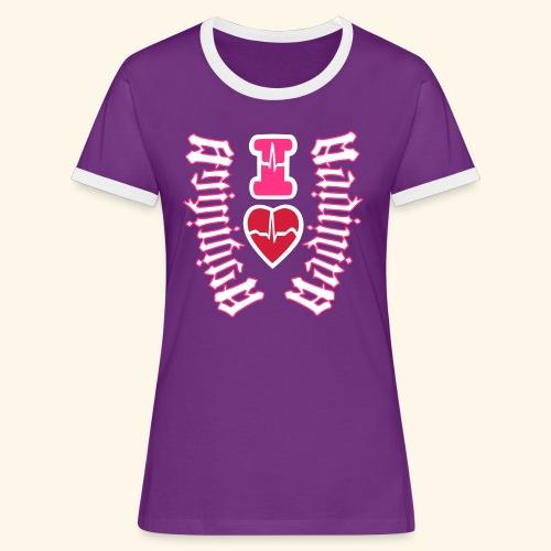 I LOVE MARTINIQUE MADININA - T-shirt contrasté Femme