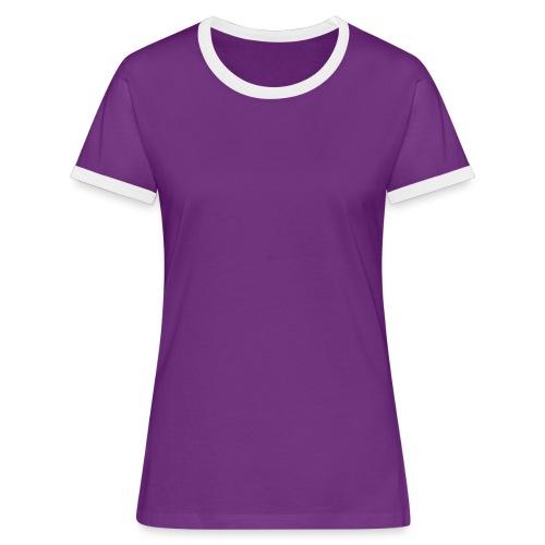 DTK Women's Contrast t-shirt in black - Women's Ringer T-Shirt