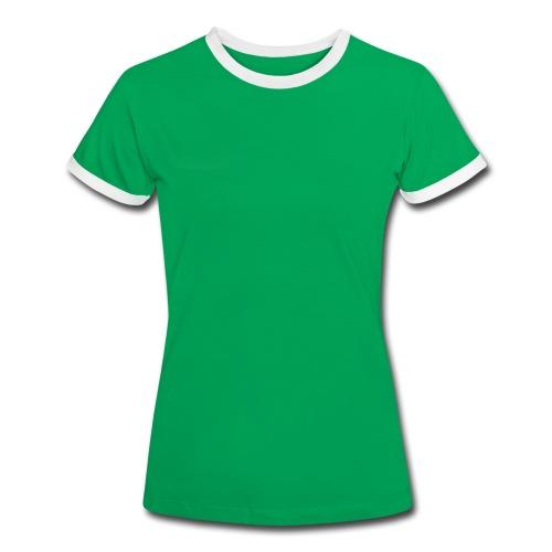 DTK Women's Contrast t-shirt in green - Women's Ringer T-Shirt