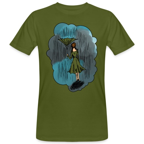 Upside Down Umbrella shirt - Men's Organic T-Shirt