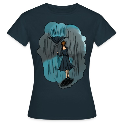 Upside Down Umbrella shirt - Women's T-Shirt
