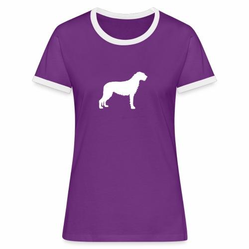 Irish Wolfhound 3 - Frauen Kontrast-T-Shirt
