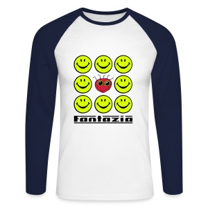 Fantazia & the Smiley Crowd - Men's Long Sleeve Baseball T-Shirt