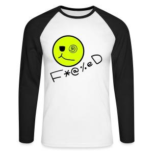 Fucked Smiley Face - Men's Long Sleeve Baseball T-Shirt