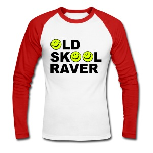 Old Skool Raver - Men's Long Sleeve Baseball T-Shirt