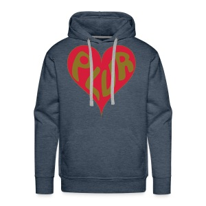 PLUR - Peace love unity respect mantra in a heart - Men's Premium Hoodie
