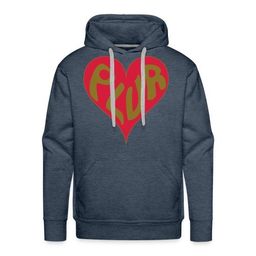 PLUR - Peace love unity respect mantra in a heart - Men's Premium Hoodie
