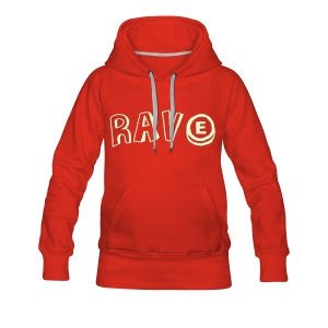 Rave with a pill, glow in the dark print - Women's Premium Hoodie
