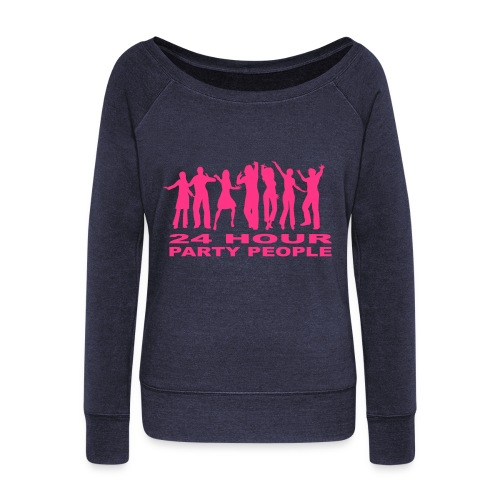 24 Hour party people - Women's Boat Neck Long Sleeve Top