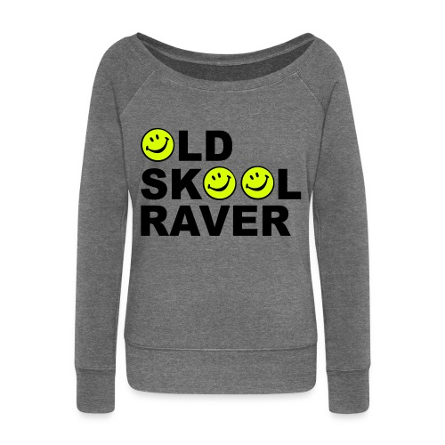 Old Skool Raver - Women's Boat Neck Long Sleeve Top