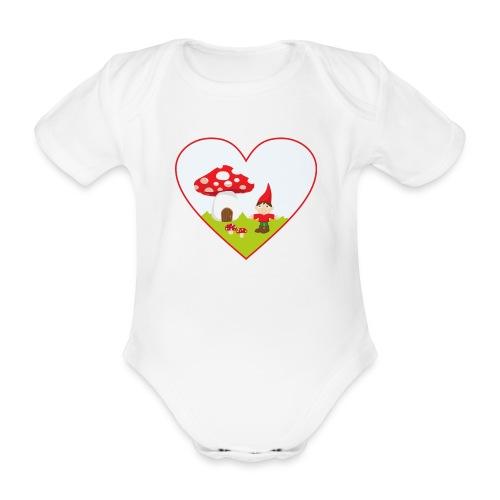 Wichtelzwerg - Babybody - Baby Bio-Kurzarm-Body