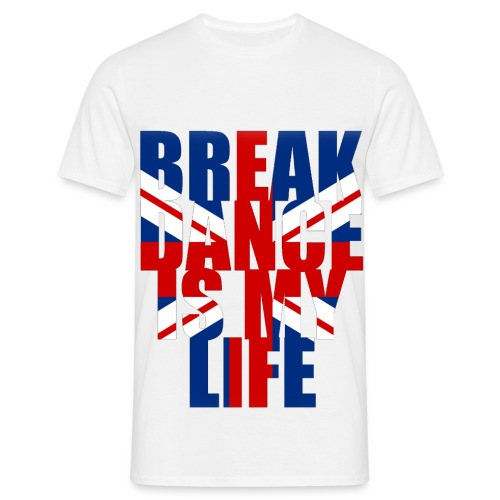 T shirt homme break dance is my life angleterre - T-shirt Homme