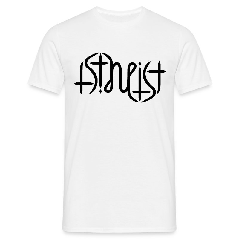 Men's T-Shirt - science,religion,gott,god,faith,ambigram,Wissenschaft,Glaube,Evolution,Darwin,Big Bang Theory,Atheist,Atheismus,Atheism