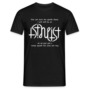 Men's T-Shirt - science,religion,gott,god,faith,ambigram,Wissenschaft,Glaube,Evolution,Darwin,Big Bang Theory,Atheist,Atheismus,Atheism