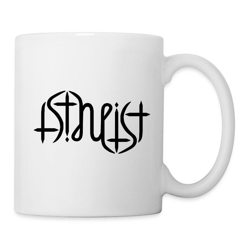 Mug - Atheism,Atheismus,Atheist,Big Bang Theory,Darwin,Evolution,Glaube,Wissenschaft,ambigram,faith,god,gott,religion,science