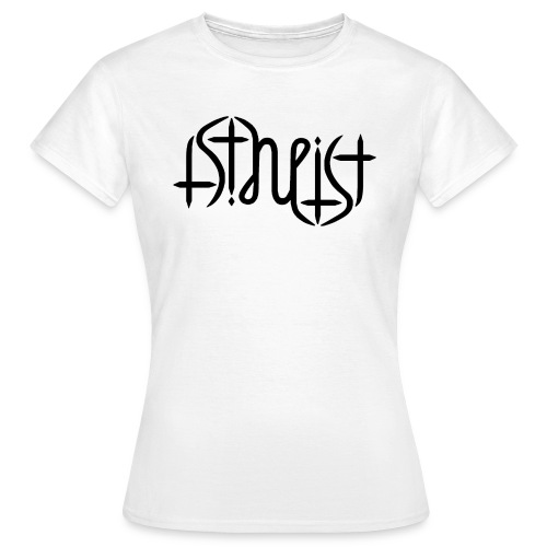 Women's T-Shirt - science,religion,gott,god,faith,ambigram,Wissenschaft,Glaube,Evolution,Darwin,Big Bang Theory,Atheist,Atheismus,Atheism