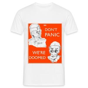 Dad's Army Jones & Frasier Don't panic/We're doomed - Men's T-Shirt
