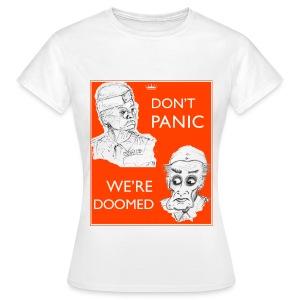 Dad's Army Jones & Frasier Don't panic/We're doomed - Women's T-Shirt
