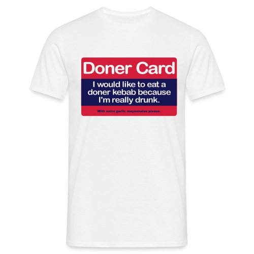Doner Card - Men's T-Shirt - Men's T-Shirt