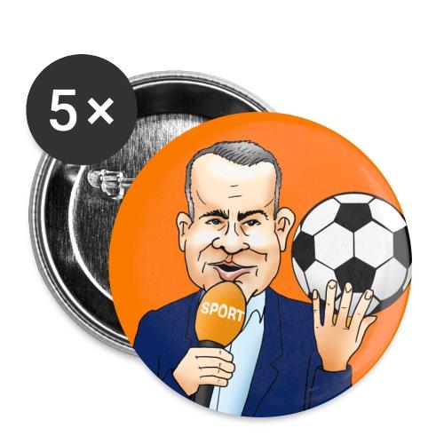 Sierd de Vos button (oranje) - Buttons groot 56 mm