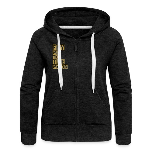Groovy Moon  - Women's Premium Hooded Jacket